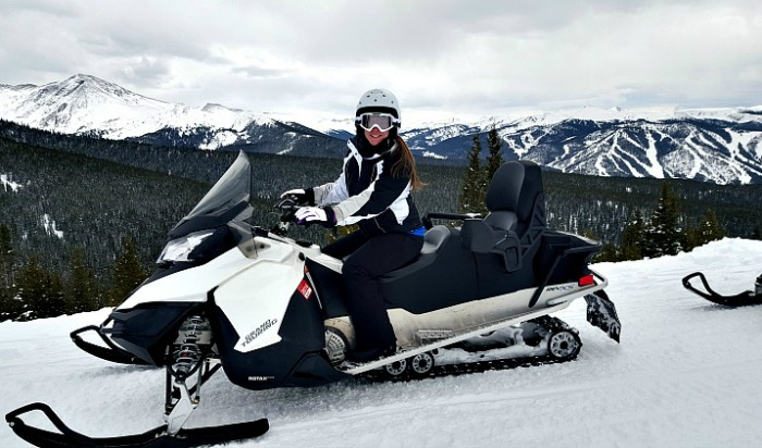 Snowmobile Tour in Winter Park, Colorado, USA