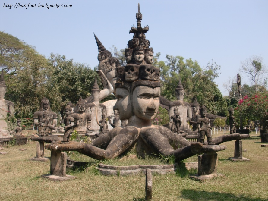 Buddha Park, Vientiane, Laos. For those times when you're feeling very spiritual and feel that one inspirational statue just isn't going to be enough ...