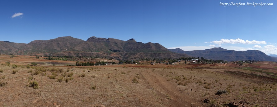 Mountain vista near Malealea, Lesotho.