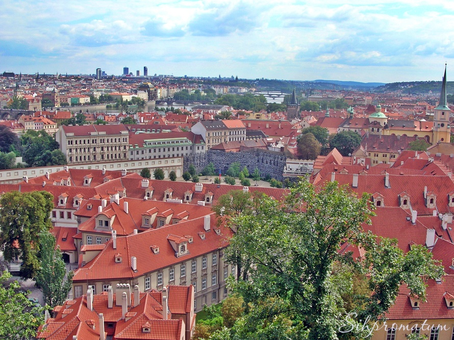 Prague rooftops., Czech Republic