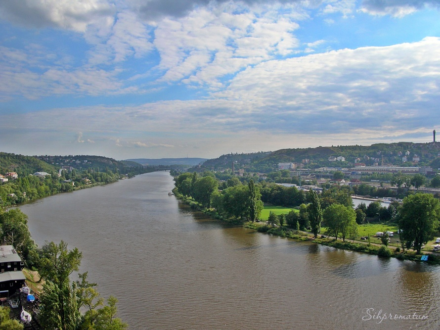 Vltava River., Czech Republic