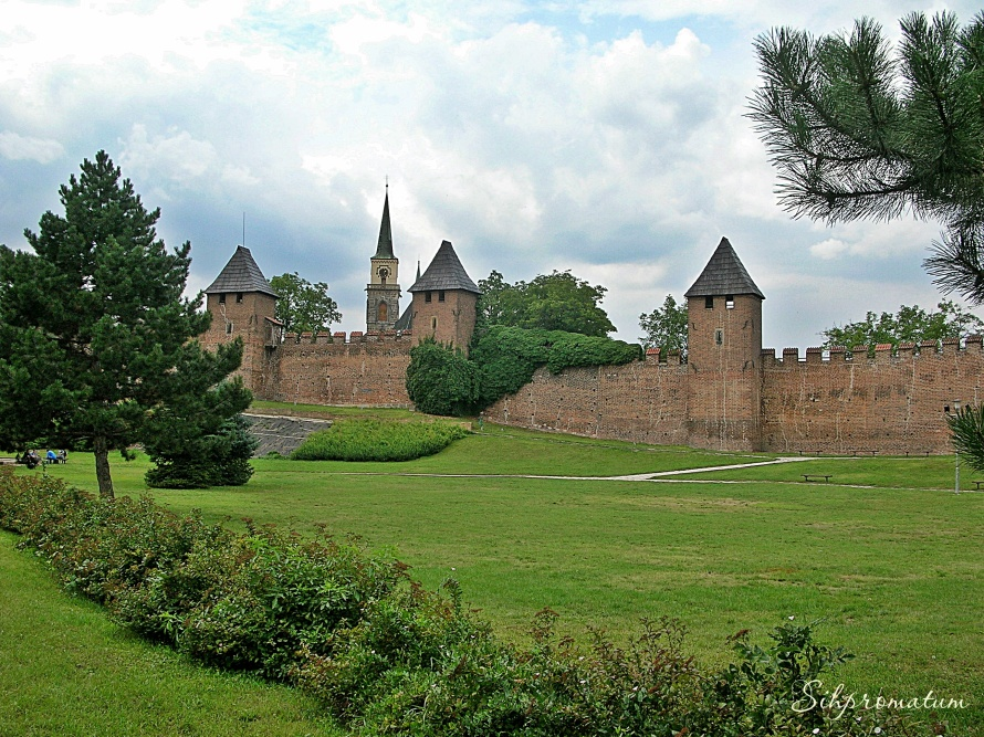 Nymburk's medieval walls and fortification., Czech Republic