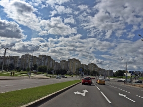 Coming into Minsk. Such a surprise to see it so big and clean.