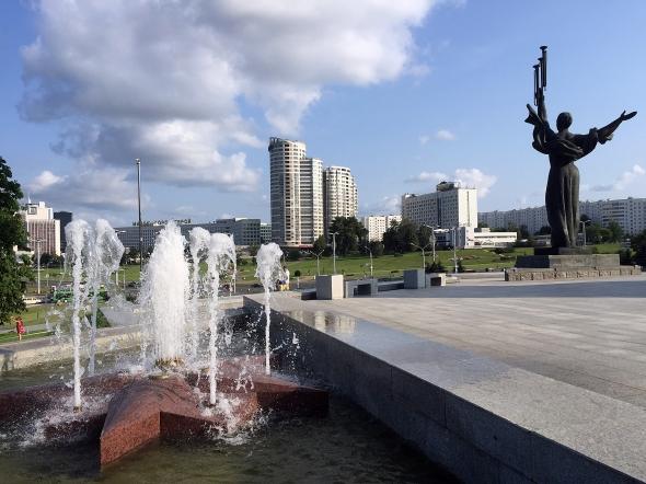 A lovely lake in the centre of Minsk. Belarus