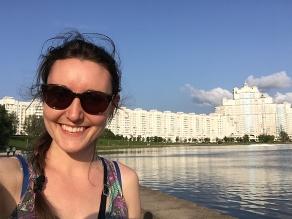 Savannah enjoying the beautiful city of MInsk