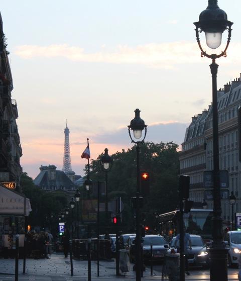 Summer sunset in the Latin Quarter, Paris