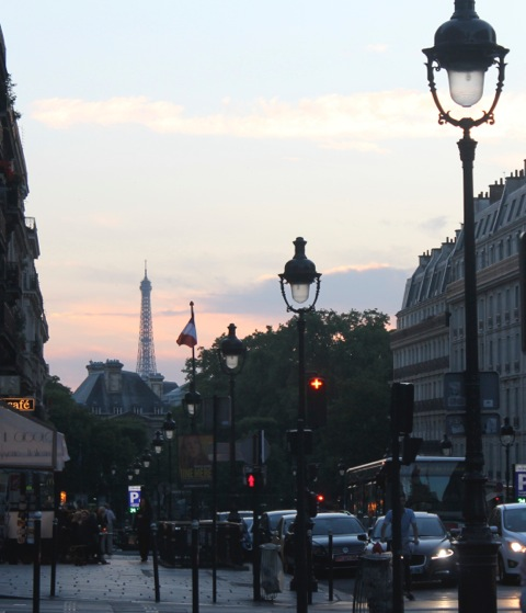 Summer sunset in the Latin Quarter, Paris