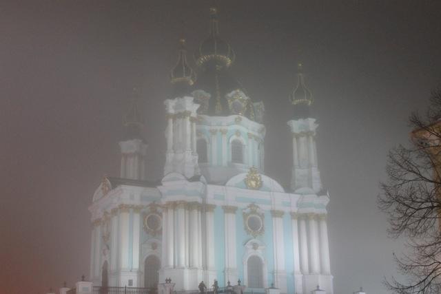 St. Andrew's Church at Night - Kiev, Ukraine