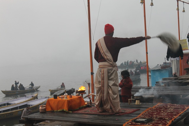 Morning ritual in Varanasi, India
