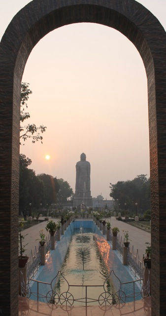 Standing Buddha at Sarnath, near Varanasi, India