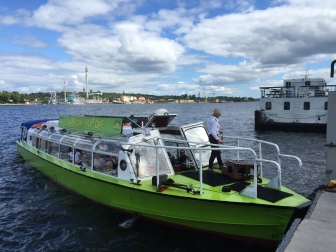 TBEX Stockholm 2016 Hop on hop of boat