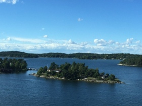 Cruising by ferry to Helsinki