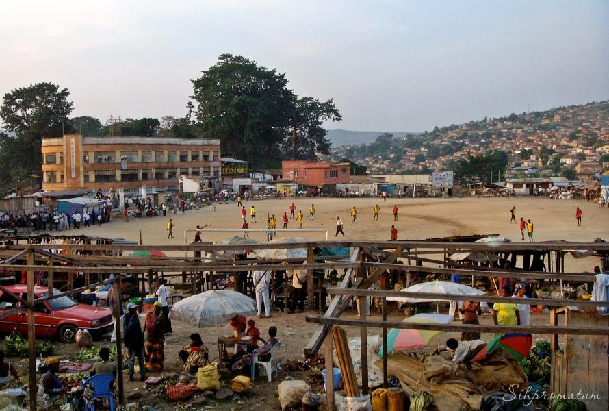 The world loves football (soccer). Kinshasa