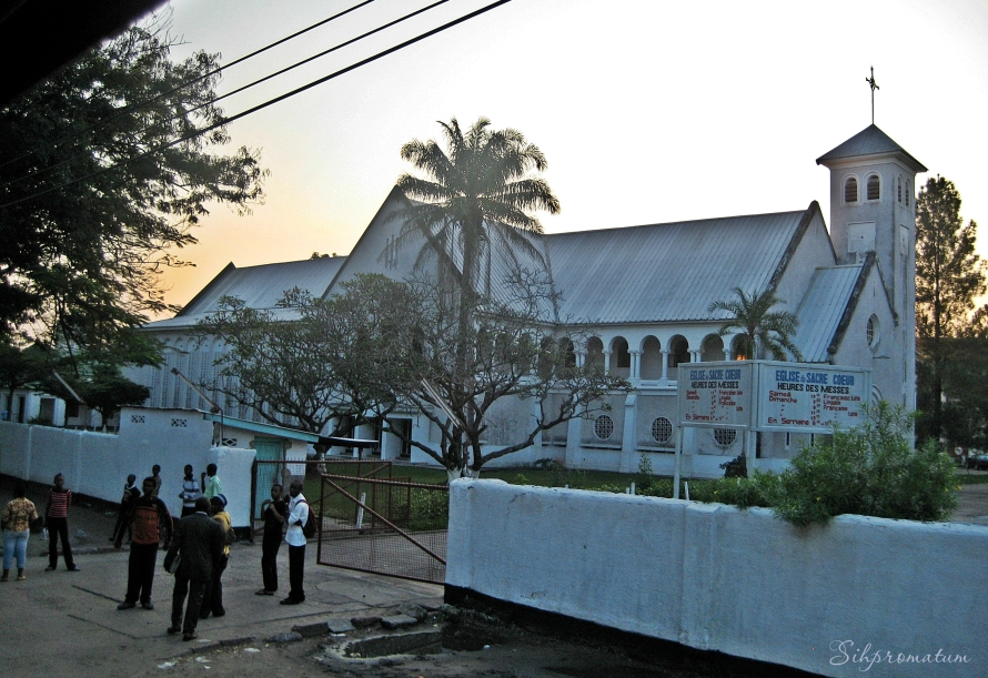 A small church in Kinshasa.