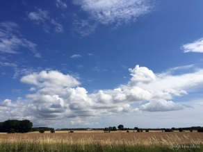 The beautiful early morning big sky' of southern Denmark