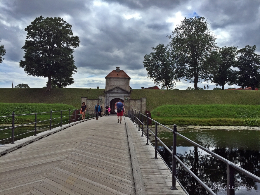 Crossing the bridge and going into Kastellet, Copenhagen