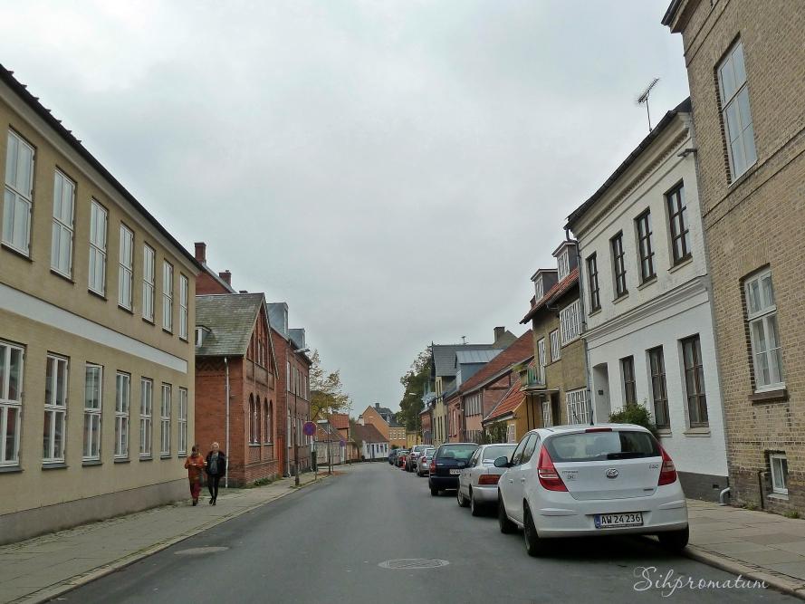 Quiet streets of Roskilde.