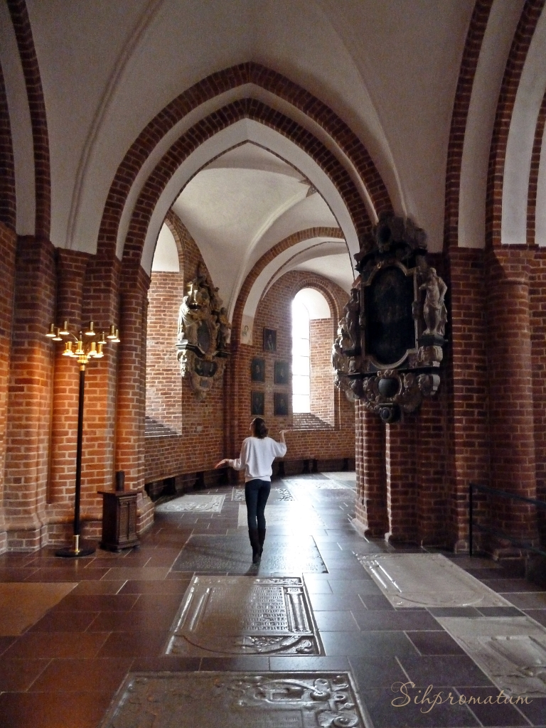 Inside the Unseco site Roskilde Cathedral