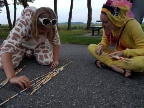 playing pick up sticks