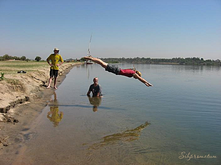 Diving into the Nile River - Bree