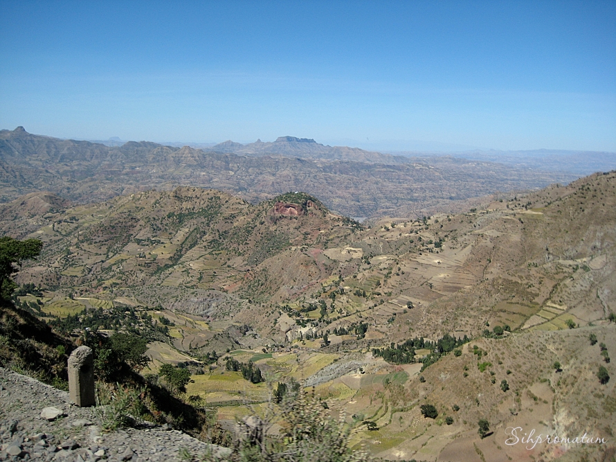 The diversity of the landscape in Ethiopia is amazing.