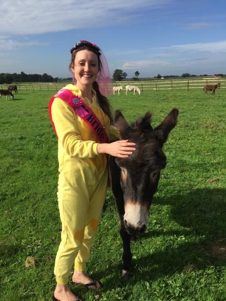 Savannah Grace with donkey