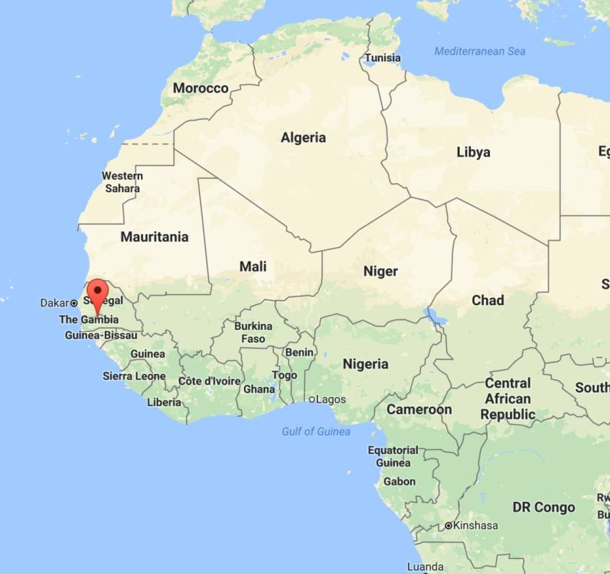 Gambia photo essay sihpromatum map of gambia sciox Choice Image