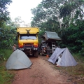 Camping on the road.