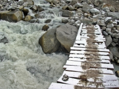 One of many exciting bridges in Nepal while trekking.