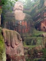 Giant Buddha in Leshan, China, the world's largest stone Buddha