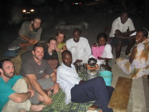 tea time on the street in Mauritania