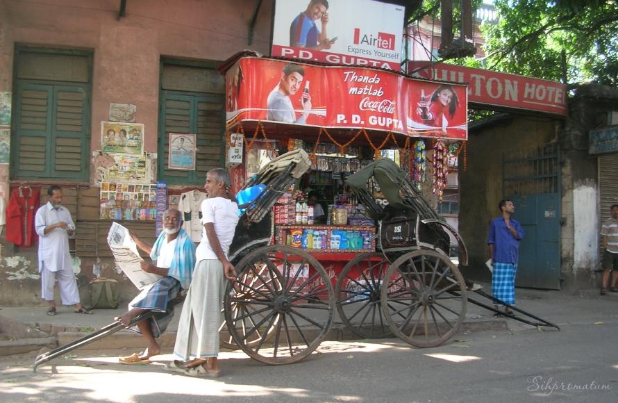 Rickshaw drivers waiting for work. Kolkata