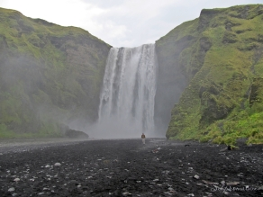Skogafoss is one of the biggest waterfalls in the country