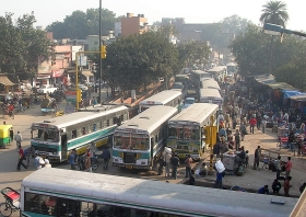 Bus stop in India