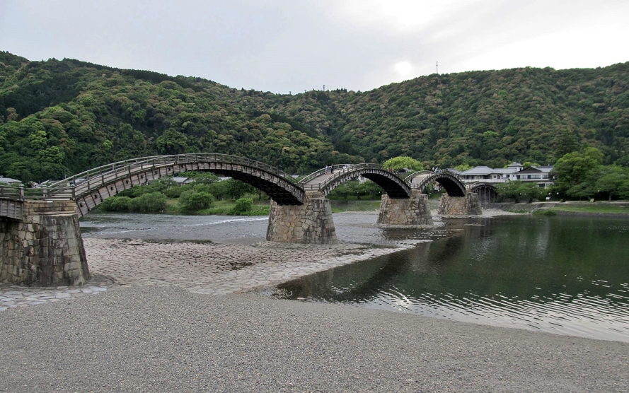 kintai-kyo bridge, Iwakun   Japan