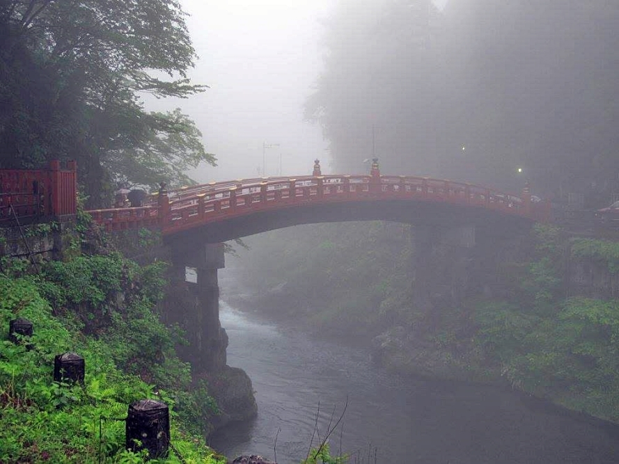 Shin-kyo bridge, Nikko.