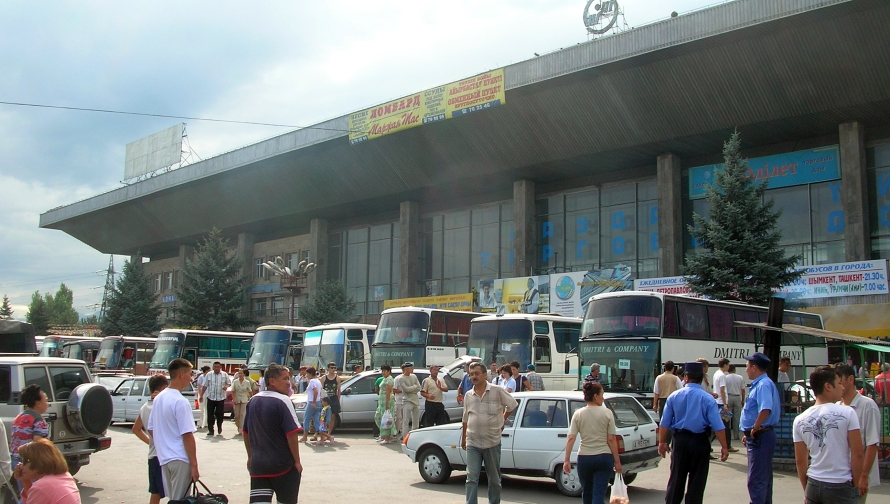 Kazakhstan bus station