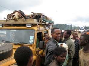 Meeting people in Ethiopia