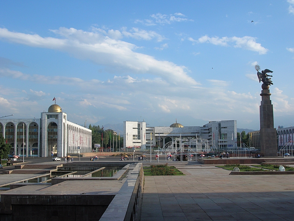 Bishkek the capital city of Kyrgyzstan - Ala-Too Square