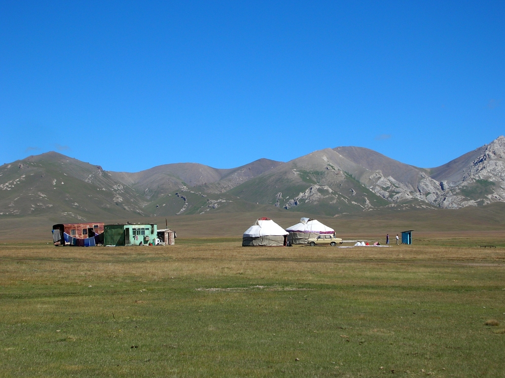 Yurts in Song Kul