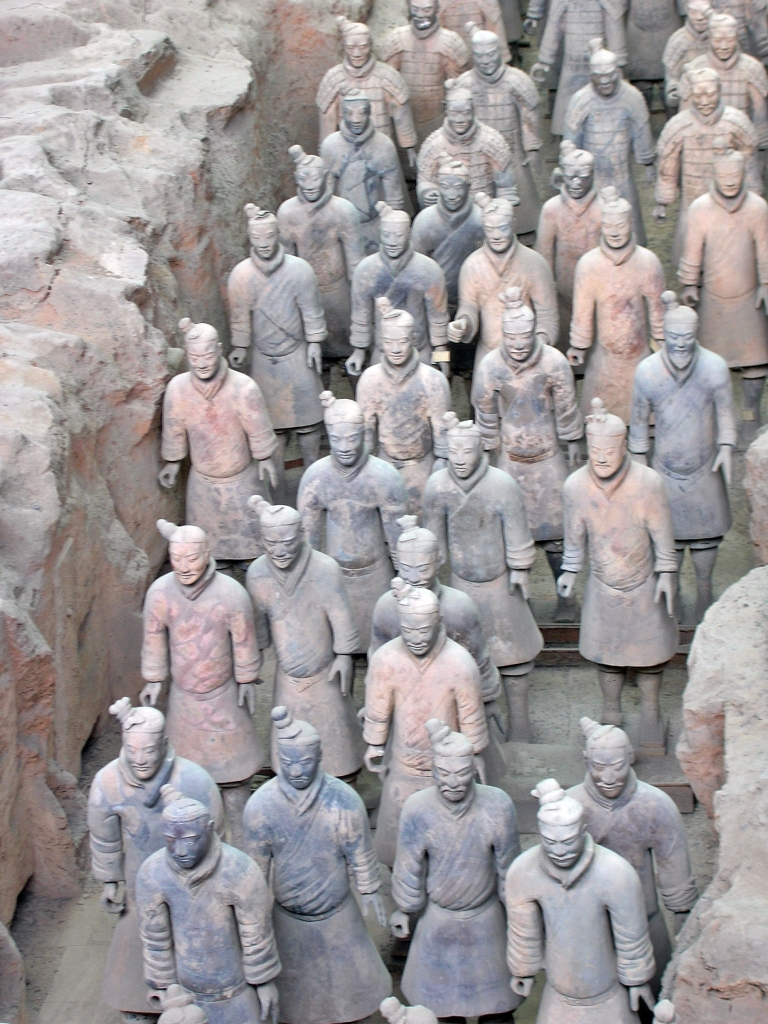 Terracota warriors, Xian, China